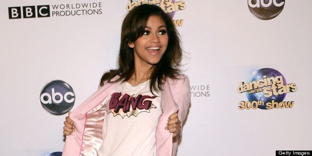 LOS ANGELES, CA - MAY 14: Zendaya Coleman arrives at the 'Dancing With The Stars' 300th episode red carpet event on May 14, 2013 in Los Angeles, California. (Photo by Araya Diaz/WireImage)