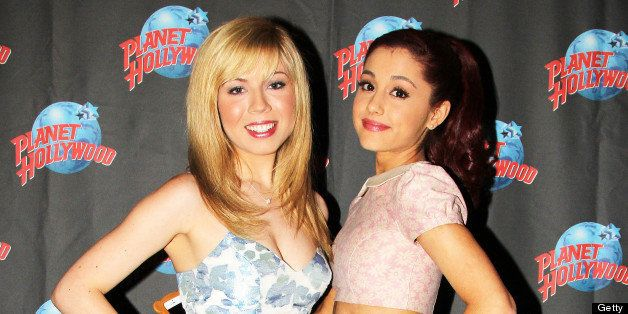 NEW YORK, NY - MAY 14:  (EXCLUSIVE ACCESS) Jennette McCurdy and Ariana Grande promote Nickelodeon's 'Sam & Cat' at Planet Hol