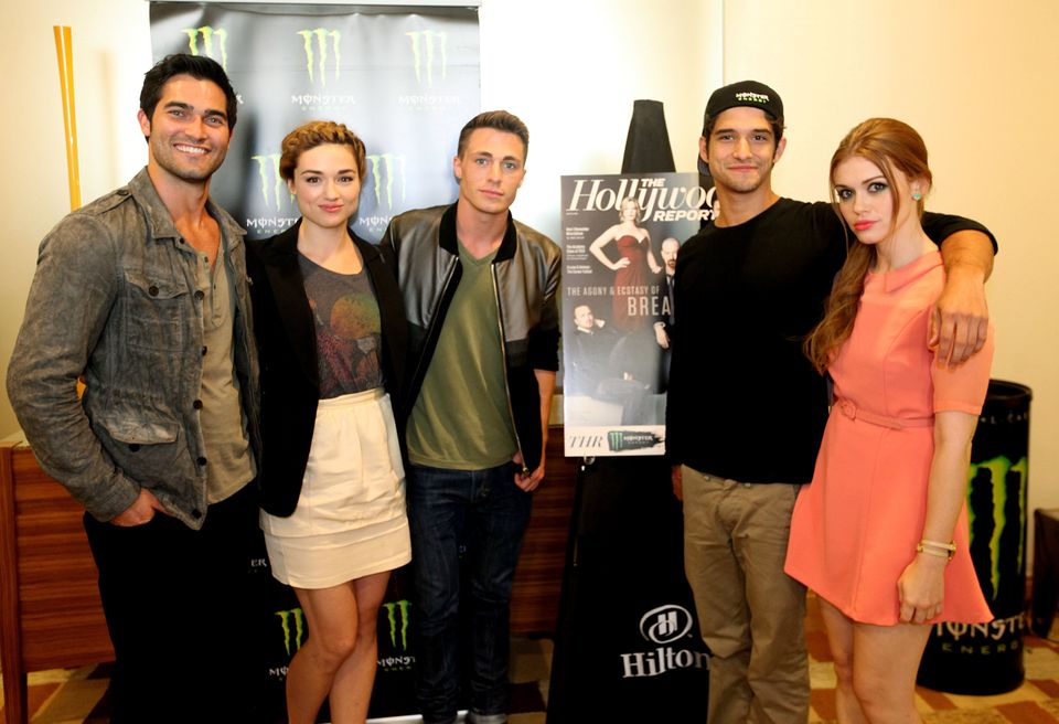 The cast of Teen Wolf at The Wet N Wild Monster Energy Video Lounge at Comic Con on Friday July 13, 2012 in San Diego. (Photo