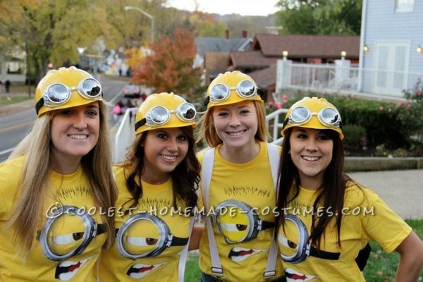 "<a href=""http://ideas.coolest-homemade-costumes.com/2012/09/19/coolest-despicable-minion-college-girls-group-costume/"" target"