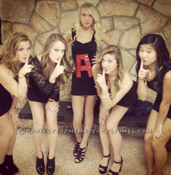 "<a href=""http://ideas.coolest-homemade-costumes.com/2013/01/20/last-minute-pretty-little-liars-girl-group-costume/"" target=""_"