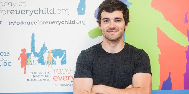 WASHINGTON, DC - JULY 02: Ian Harding poses for a photo during the launch for the 2013 Race for Every Child 5K at Children's