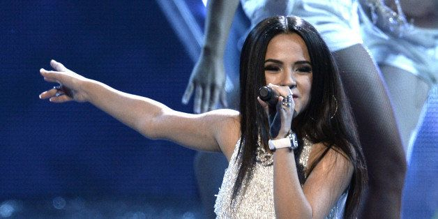 LAS VEGAS, NV - NOVEMBER 21:  Recording artist  Becky G performs onstage during The 14th Annual Latin GRAMMY Awards at the Ma