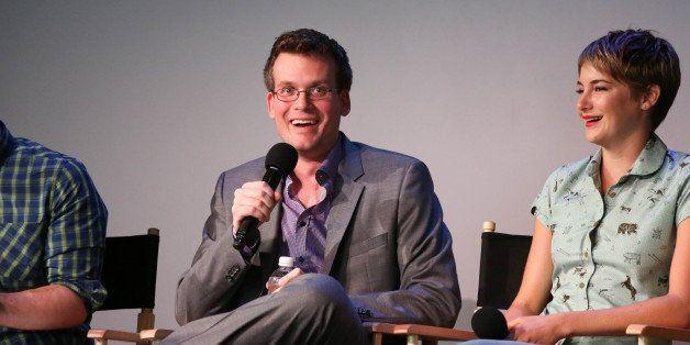 NEW YORK, NY - JUNE 01:  Writer John Green and Shailene Woodley attend 'Meet The Filmmakers' at Apple Store Soho on June 1, 2
