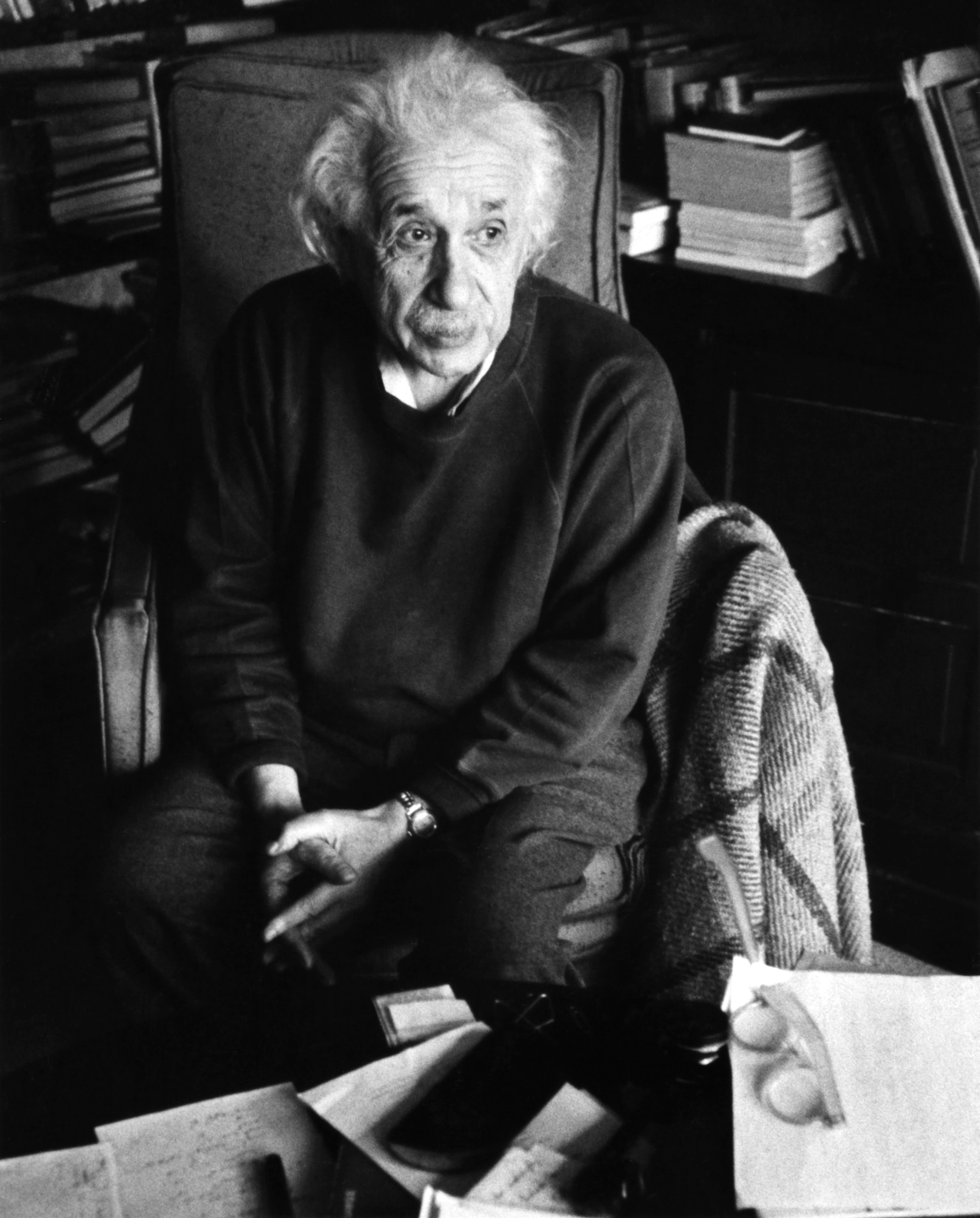 """Einstein,who was born into asecular Jewish family, came to embrace what he called a """"cosmic..."""