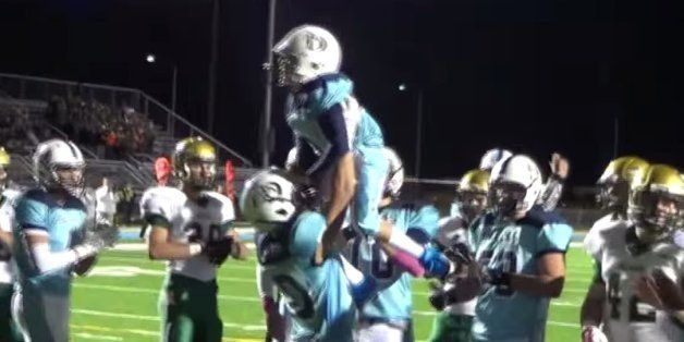 Freshman Who Was Born Blind Scores His First Football Touchdown With