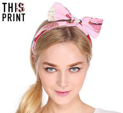 """<em><a href=""""http://www.romwe.com/This-Is-Print-Cup-Cake-Print-Hair-Band-p-88180-cat-702.html"""" target=""""_hplink"""">Romwe</a>, $5"""