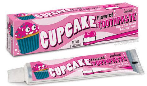 """<em><a href=""""http://www.offthewagonshop.com/collections/weird-funny-gifts/products/cupcake-flavored-toothpaste"""" target=""""_hpli"""