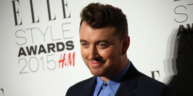 Sam Smith poses for photographers upon arrival at the Elle Style Awards in London, Tuesday, Feb. 24, 2015. (Photo by Joel Rya
