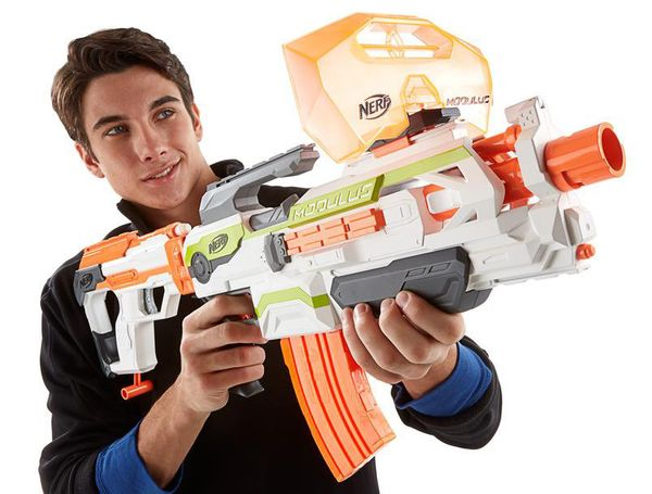 The NERF Modulus is quite simply the ultimate in toy-based warfare. You simply buy the starter gun for £32.69 and then start