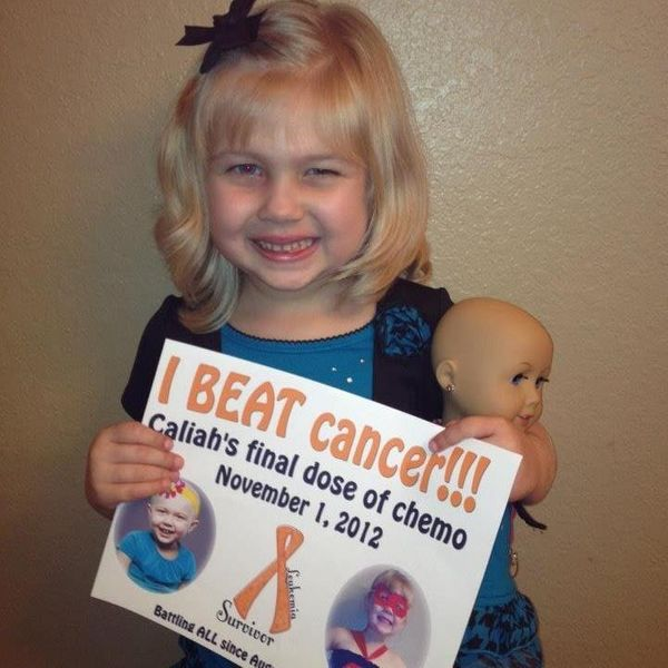 My daughter, Caliah, was diagnosed with ALL leukemia at the age of 3 in 2010. She is four years in remission now. <em><strong