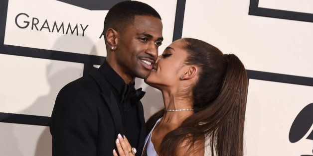Big Sean, left, and Ariana Grande arrive at the 57th annual Grammy Awards at the Staples Center on Sunday, Feb. 8, 2015, in L