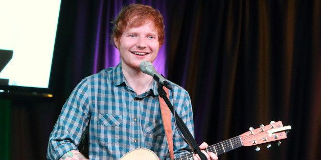 Singer-songwriter Ed Sheeran visits the radio Q102 Performance Theater on Friday, July 4, 2014, in Philadelphia. (Photo by Ow