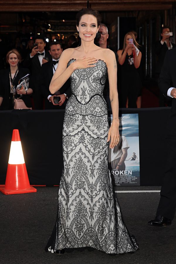 Oh, Angie. The pleasure is all ours getting to watch you work it in a lace Gucci Premiere gown.