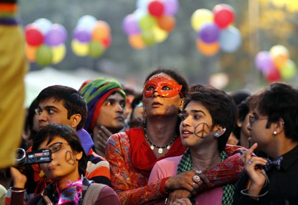 NEW DELHI, INDIA - NOVEMBER 30: Indian members and supporters of the Lesbian, Gay, Bisexual, and Transgender (LGBT) Community
