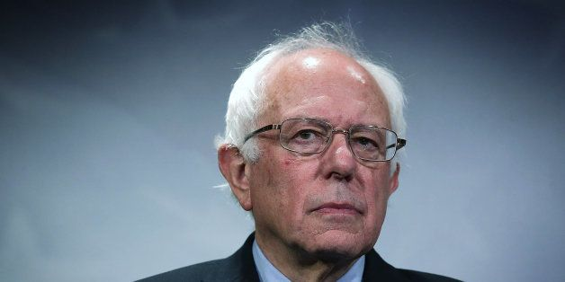 WASHINGTON, DC - SEPTEMBER 17:  U.S. Sen. Bernie Sanders (I-VT) listens during a news conference about private prisons Septem