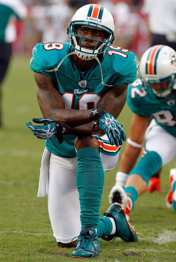 wholesale dealer 67dc2 ffdf8 Brandon Marshall Looking For Fight During Dolphins-Jets Game ...