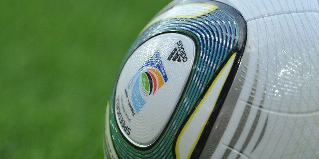 AUGSBURG, GERMANY - JULY 05:  A ball with the offical logo during the FIFA Women's World Cup 2011 group B match between Engla