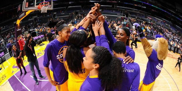LOS ANGELES, CA - JUNE 2: The Los Angeles Sparks are seen before the game against the San Antonio Stars on June 2, 2016 at ST