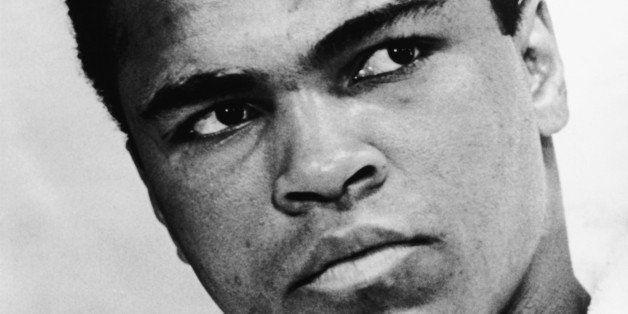 World heavyweight boxing champion Muhammad Ali (born 1942) in 1967. Photographed by Ira Rosenberg.