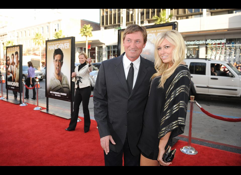 Ice hockey legend Wayne Gretzky arrives with his daughter Paulina Gretzky for the premiere of 'The Hangover,' at the Grauman'