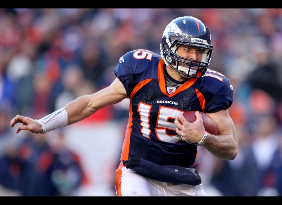 During the team's pre-playoff skid, Tebow had been gifting the ball to the opposition. He provided the Chiefs with a fumble a