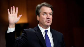 Supreme court nominee Brett Kavanaugh is sworn in to testify before the Senate Judiciary Committee on Capitol Hill in Washington, DC, U.S., September 27, 2018. Andrew Harnik/Pool via REUTERS