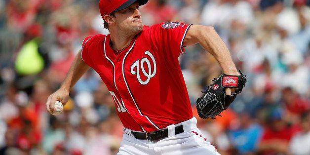 WASHINGTON, DC - JUNE 20:  Starting pitcher Max Scherzer #31 of the Washington Nationals throws to a Pittsburgh Pirates batte