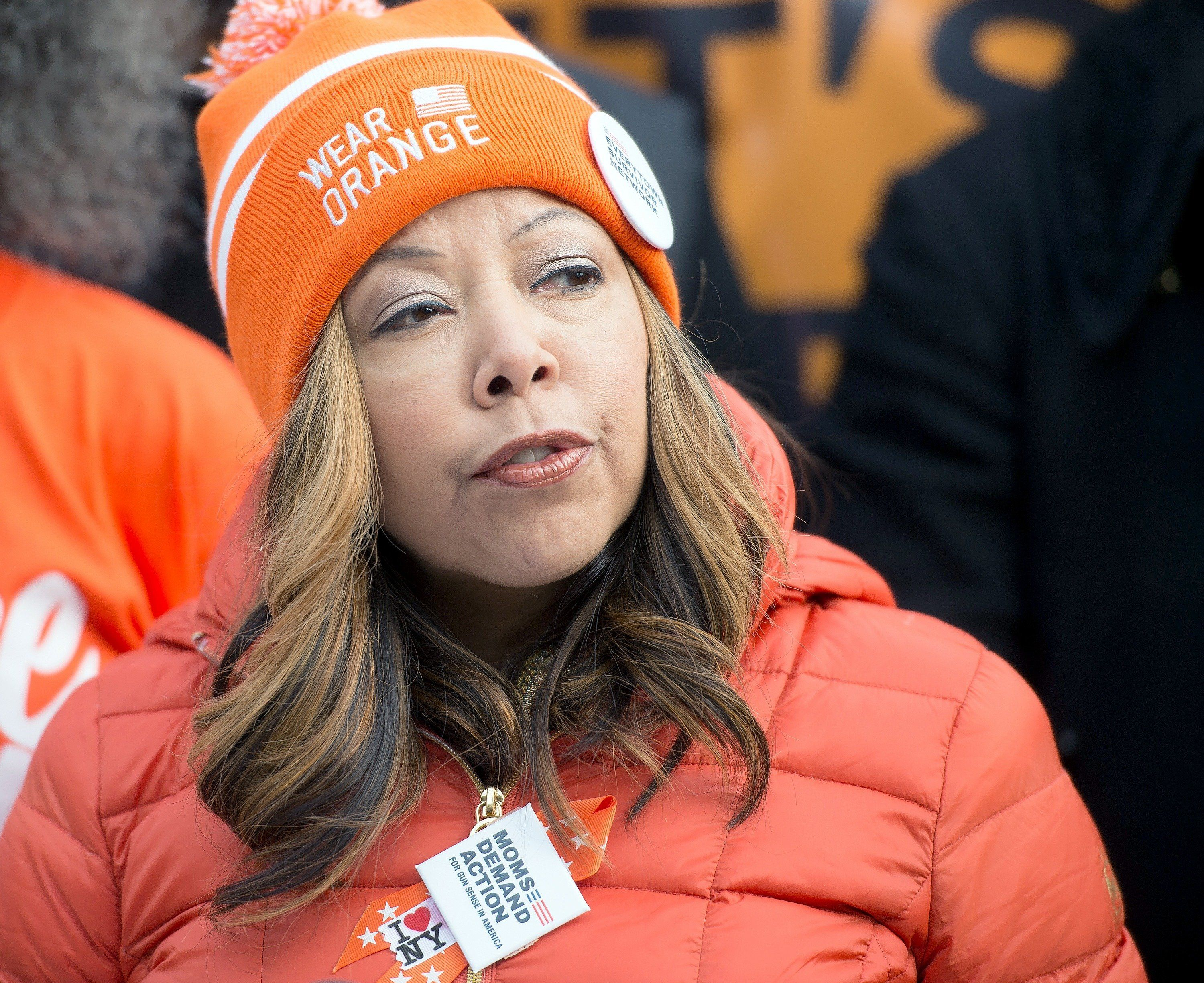 Lucy McBath, at a Peace Week event in New York City in 2016, will have a tough race against Karen Handel, who won the special