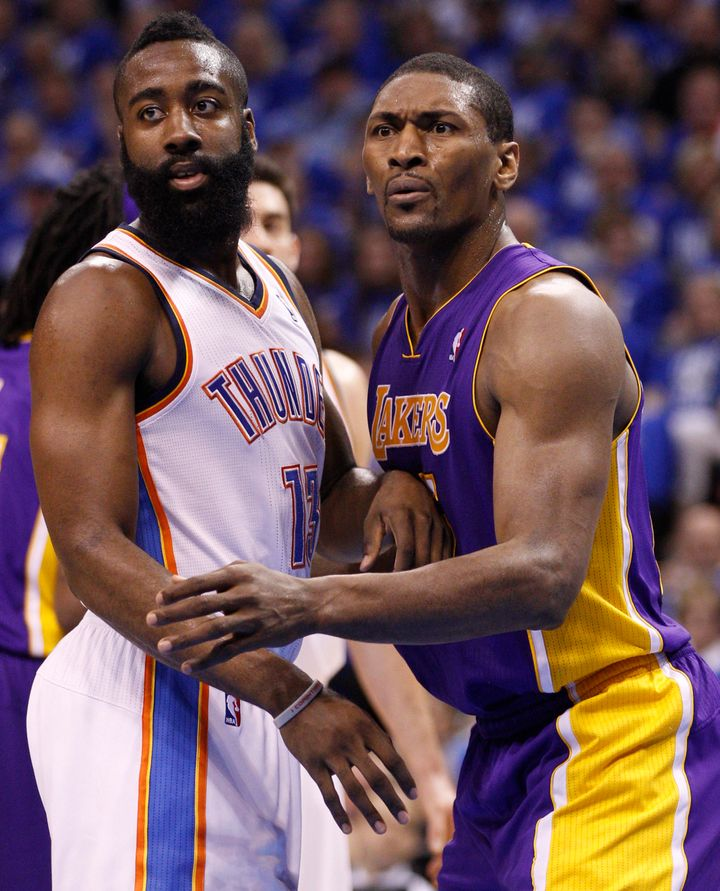 26208231c62 Metta World Peace Rips James Harden During Game 3 Of NBA Finals   No Brain  All Beard
