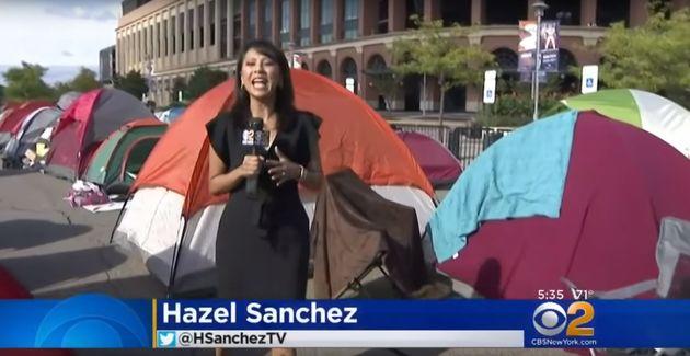 방탄 공연 때문에 뉴욕에 텐트족이 등장했고 지하철 공지가