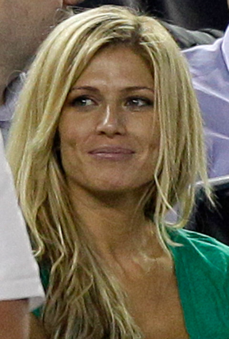 Torrie Wilson, retired American professional wrestler and girlfriend of Alex Rodriguez, sits in his box during the Yankees 3-