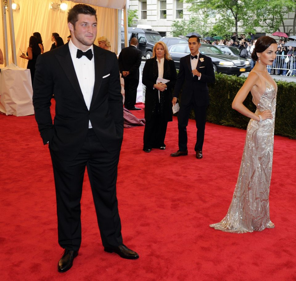 Camilla Belle and Tim Tebow attend the Costume Institute Benefit at The Metropolitan Museum of Art May 7, 2012, celebrating t