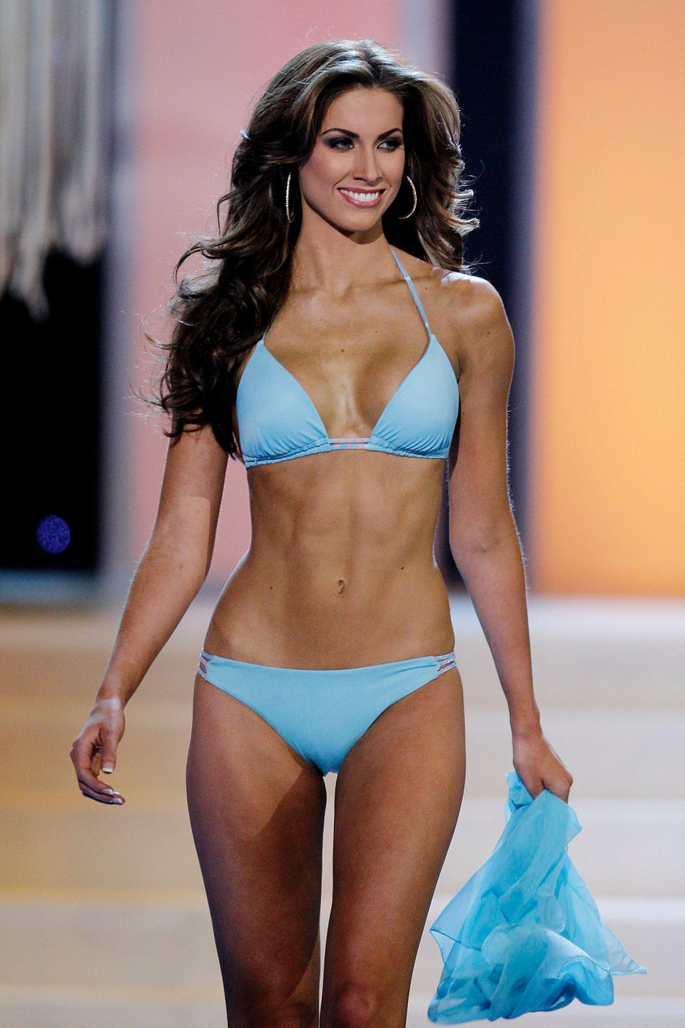 Miss Alabama USA Katherine Webb competes in the swimwear competition during the 2012 Miss USA pageant at the Planet Hollywood