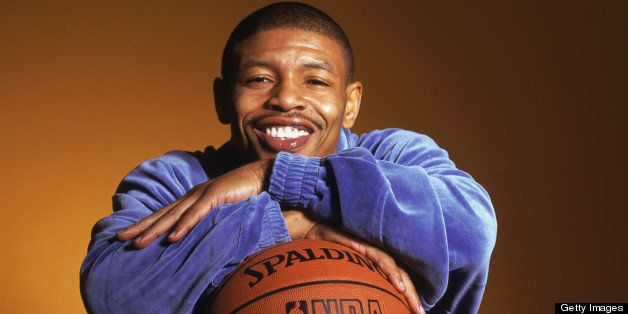 ATLANTA - FEBRUARY 9:  Portrait of Tyrone 'Muggsy' Bogues one of the NBA's top twenty career assist leaders and the smallest