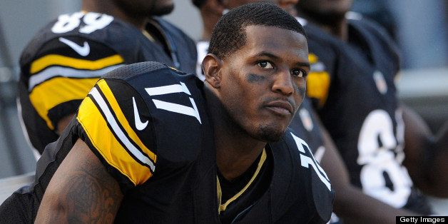 PITTSBURGH, PA - SEPTEMBER 16:  Mike Wallace #17 of the Pittsburgh Steelers looks on from the sideline during the game agains