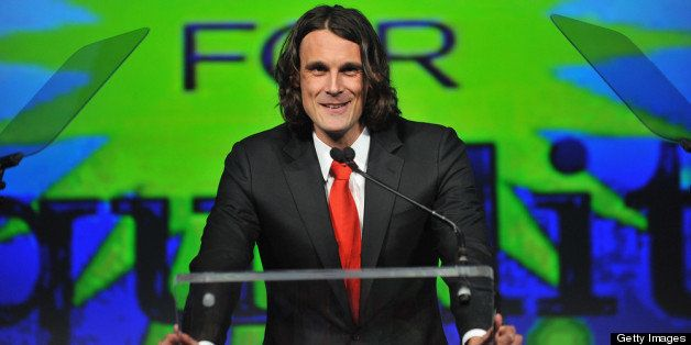 NEW YORK, NY - APRIL 04:  NFL player Chris Kluwe speaks onstage at the fifth annual PFLAG National Straight for Equality Awar