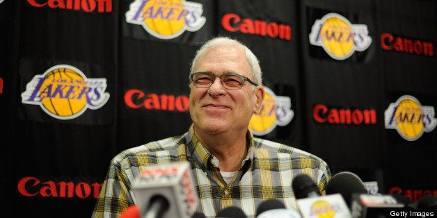 EL SEGUNDO, CA - MAY 11:  Former coach of the Los Angeles Lakers Phil Jackson during a news conference at the Lakers training