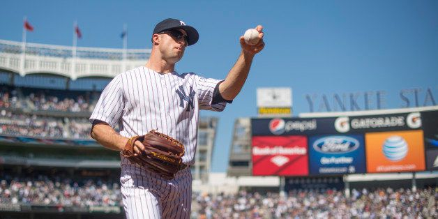 NEW YORK - MAY 04: Brett Gardner #11 of the New York Yankees looks on during the game against the Oakland Athletics at Yankee