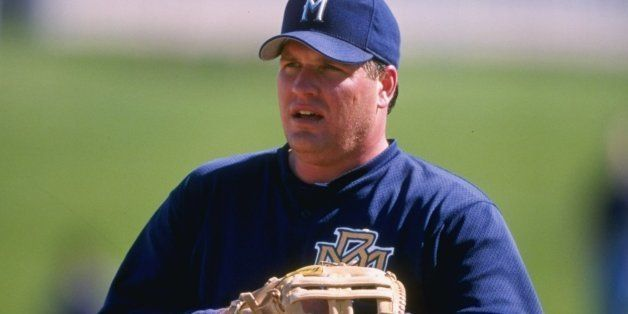 27 Feb 1998: Bob Hamelin of the Milwaukee Brewers in action during a spring training game against the San Diego Padres at the