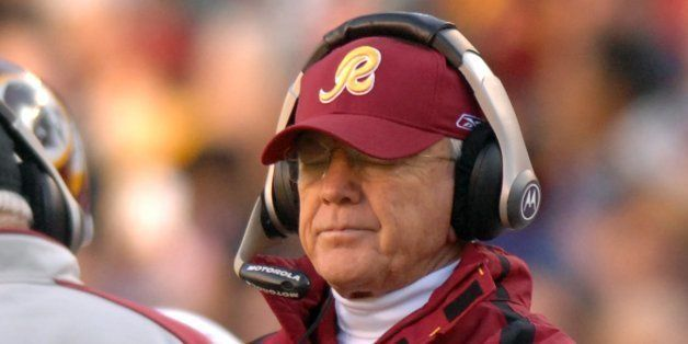 The Washington Redskins' head coach Joe Gibbs is shown during a game against the Philadelphia Eagles on Sunday, December 10,