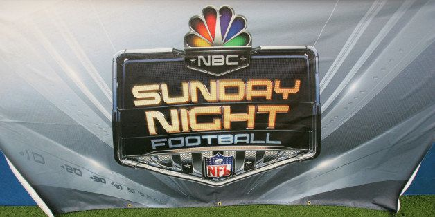 DALLAS - SEPTEMBER 17:  The NBC Sunday Night Football logo is shown during the Washington Redskins game against the Dallas Co
