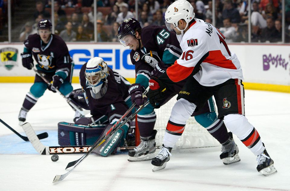 Anaheim Ducks Wear Classic Jerseys. Ottawa Senators left wing Clarke  MacArthur 259325279