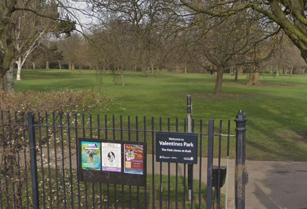 The foetus was found in Valentines Park in Ilford on