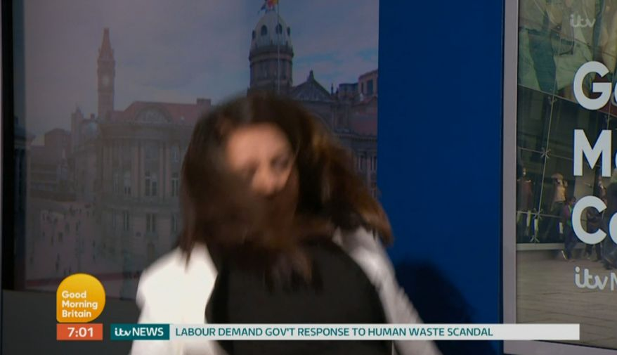 'Good Morning Britain' Newsreader Goes Flying After Losing Her