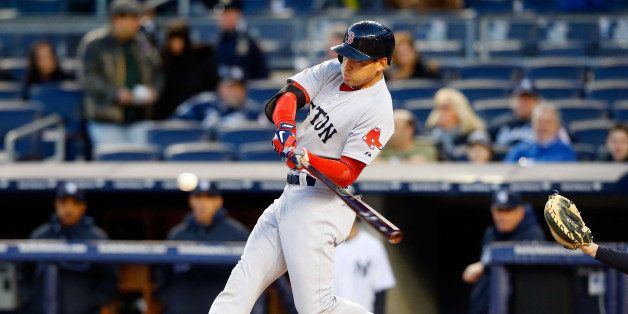 NEW YORK, NY - APRIL 03:  (NEW YORK DAILIES OUT)   Jacoby Ellsbury #2 of the Boston Red Sox in action against the New York Ya
