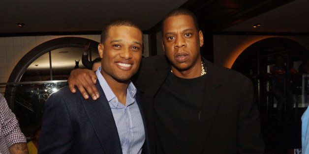NEW YORK, NY - JUNE 24:  (L-R) Robinson Cano and Jay-Z attend The 'Super Heroes' Fundraiser And Domino Tournament at The 40/4