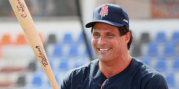 CANCUN, MEXICO , FEBRUARY 15: Jose Canseco of Tigres of Quintana Roo during a training session before the start of the 2012 s