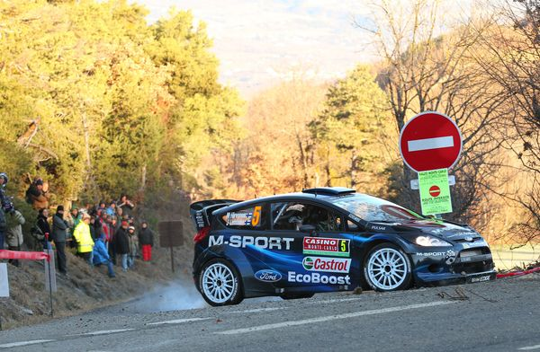 <br>MONTE-CARLO, MONACO - JANUARY 15: Mikko Hirvonen of Finland and Jarmo Lehtinen of Finland compete in their M-SPORT Ltd Fo