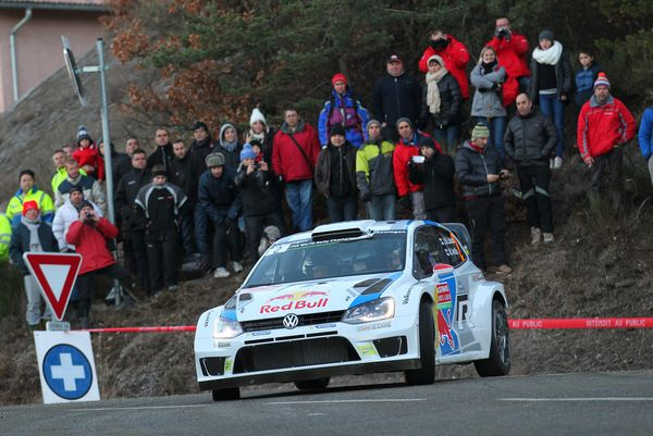 <br>MONTE-CARLO, MONACO - JANUARY 15: Jari Matti Latvala of Finland and Mikka Anttila of Finland compete in their Volkswagen